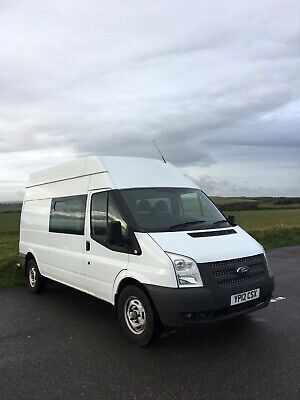Ford Transit Van 2.2Tdi T350 High Roof Lwb. Ex-Network Rail. 89K! No Vat. Camper