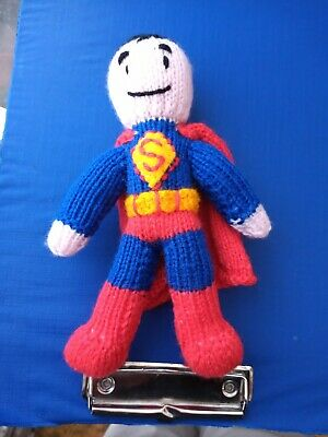 hand knitted superman