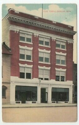 c1910 Cadillac Michigan Elks Temple Lodge