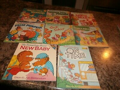 The Berenstain Bears Children's Books=8 Mixed Lot Titles