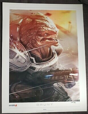 Mass Effect 2: Lithograph - Grunt *Signed & Limited 495/500*