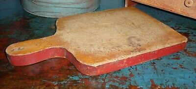 Antique Cutting/Bread Board-AAFA-Wooden, Old Paint-Wonderful Patina-Primitive