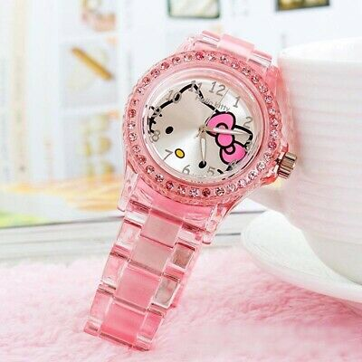 Hello Kitty Pink Quartz Wristwatches For Girls High Quality -FREE SHIPPING