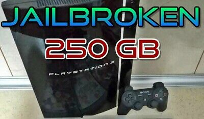 Sony PlayStation 3 PS3 FAT 250GB  CECH-04 +17 GAMES +New Controler