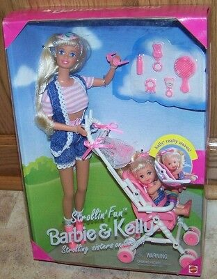 Mattel - Barbie Doll - 1995 Strollin Fun Barbie & Kelly Playset #13742 NRFB