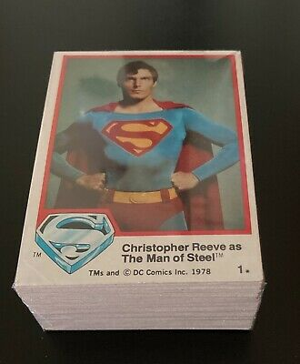 1978 Topps Superman Trading Cards Series 1 Complete Set - 77 Cards