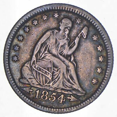 1854 Seated Liberty Quarter - Charles Coin Collection *944