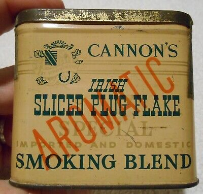 Vintage Very Rare Cannon's Irish Sliced Tobacco Vertical Pocket Tin Series 110