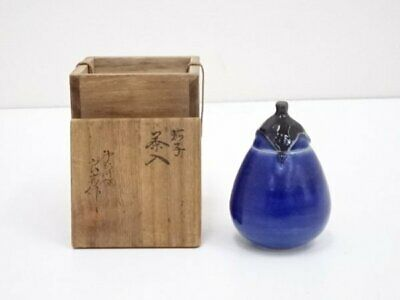 Tea Caddy Ceremony Chaire Pottery Ware Sado Japanese Traditional Crafts c245