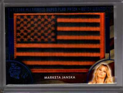 Marketa Janska 1/1 2020 Benchwarmer Hot For Teacher Super Flag Patch
