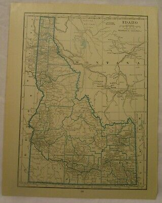 Original 1922 Map of the State of Idaho