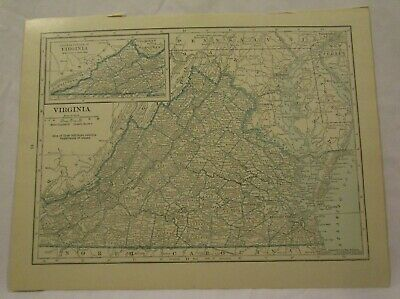 Original 1922 Map of the State of Virginia