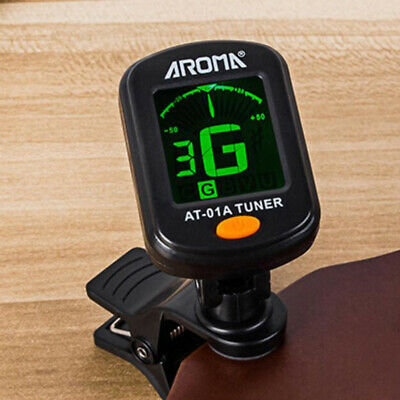 Electric LCD Digital Guitar Tuner Clip-on Chromatic Acoustic Guitar Bass Ukulele