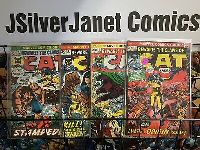 Bronze Age Cat (1972 Marvel) #1-4 Beware the Claws of the Cat Marvel Comics