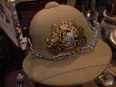 A very well made reproduction of a 1900's Baverian Pith helmet