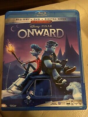 Disney Pixar Onward (Blu-ray + DVD; 2020) Like New