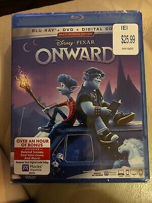 Disney Pixar Onward (Blu-ray + DVD + Digital; 2020) NEW Sealed