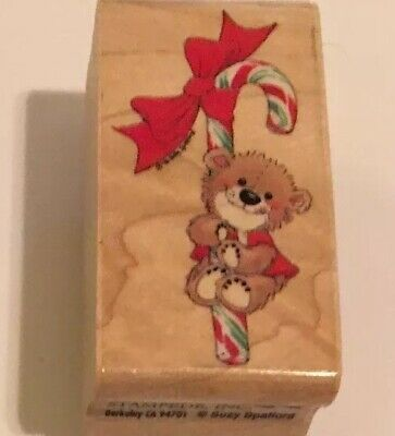 Candy Cane Bear - Rubber Stampede