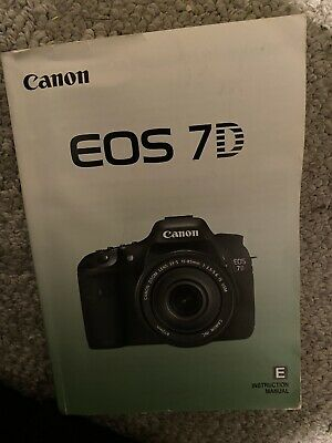 Canon Genuine EOS 7D Camera Instruction Book / Manual / User Guide— used