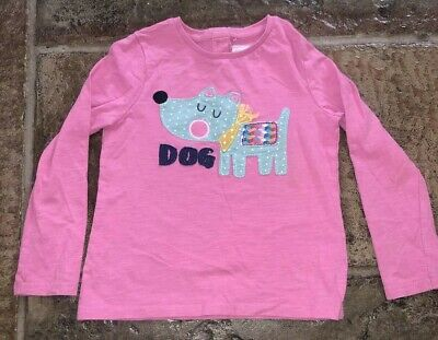 Girls Top Aged 4-5 Years From Next Pink Top Long Sleeved