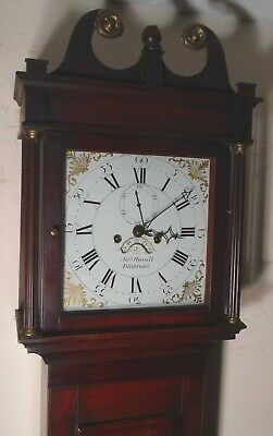 "Antique  Eight Day Oak  "" Bridport ""    Longcase / Grandfather Clock"