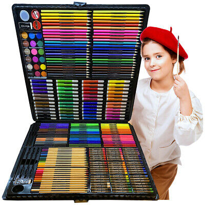 258 PCS Artist Pencils Set Drawing Sketching Colouring Art Kit Adult