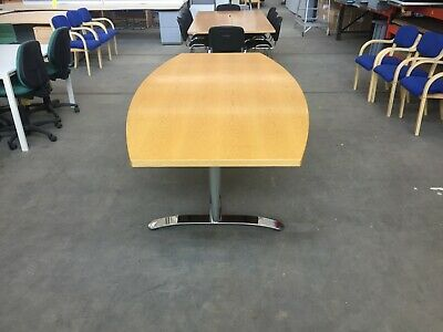 Large Barrel shaped Boardroom Table 240 x 120 cm, Conference, Meeting