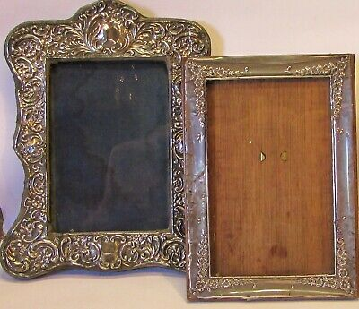 S/Silver ANTIQUE Photo Frames Chester 1906 &1916 by J&R Griffin of Birmingham