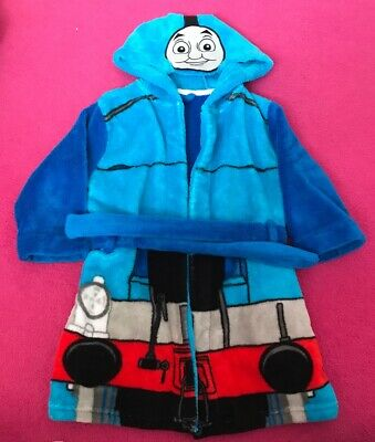 Boys Dressing Gown 18-24 Months Thomas The Take Engine M&S Train Nightwear Bed