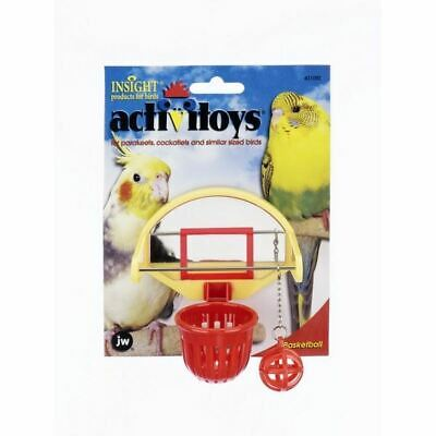 JW Bird Toy Birdie Basket Ball Hoop Game Play Exercise Activity for Budgie Birds