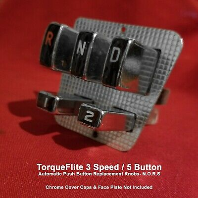 1956-1959 Nors Torqueflite 3 Speed Automatic Transmission Replacement Buttons