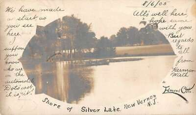 New Vernon New Jersey Silver Lake Real Photo Vintage Postcard AA13458