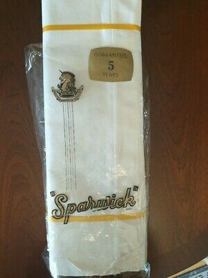 "Pair of Vintage ""Sparwick Guaranteed""  Flat Heavy Cotton Bed Sheets"