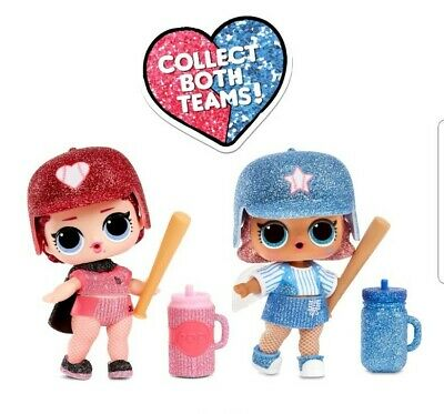 2 Balls LOL Surprise All Star B.B.s Big Sister Dolls Baseball Teams NEW In Hand