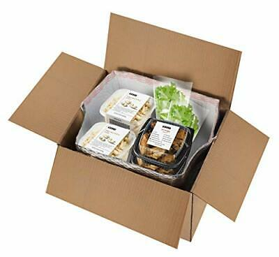 5 Pack Foil Insulated Box Liners 12 x 10 x 9 Thermal Box Liners. Bottom Gusse...