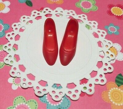 Vintage Barbie FRANCIE * Red Pointed Squishy HEELS * SHOES * JAPAN * OUTFIT LIST