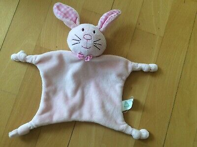 Elc Pink Sugar And Spice Bunny Rabbit Comforter Blanket Baby Soft Hug Toy