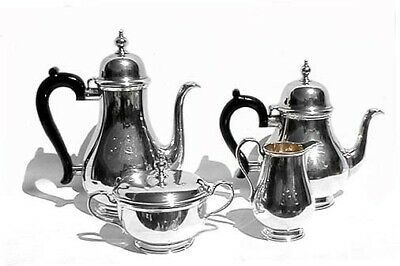 """Tiffany & Co. Makers """"Queen Anne"""" Sterling Silver Tea Set"""