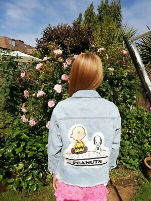 Zara Peanuts+Snoopy Denim Jacket Girls Age 10Yrs