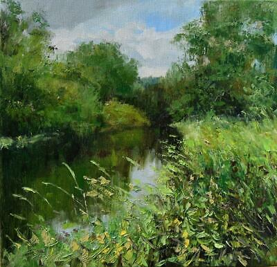 """In the thickets""""  Original Oil Painting 30x30cm signed Garncarek Al,,"""