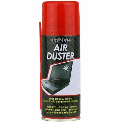 Compressed Air Duster Spray Can Cleans Protects Laptops Keyboards - 200ml