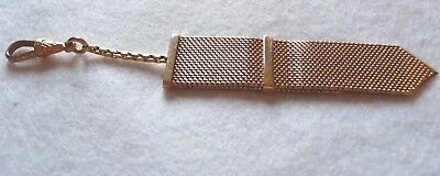 Late Victorian or Edwardian 18K Gold Necktie Watch Fob with Moveable Tie Clasp