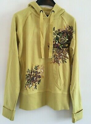 NEXT Ladies / Girls HOODIE size 6  Yellow Mustard Shade Womans Jumper with Hood