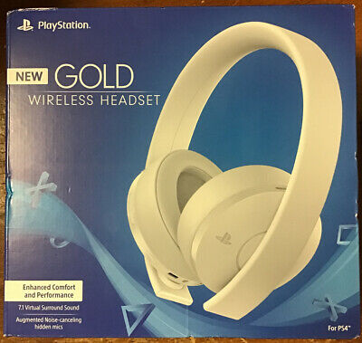 Sony Playstation Gold Wireless Headset 7.1 Surround Sound PS4 (White) NEW!