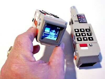 SpAcE 1999 COMMLOCK Prop mini portable lcd tv camcorder Star Trek space age Cond