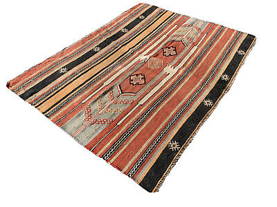 Antique Traditional Turkish Kilim Rug, Wool Country Kilim 147X102 Cm