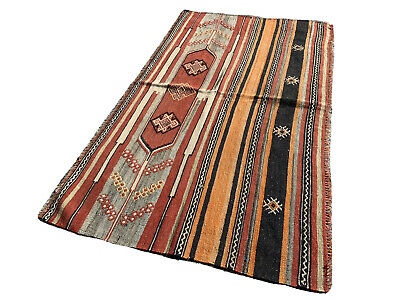 Antique Traditional Turkish Kilim Rug, Wool Country Kilim 148X86 Cm