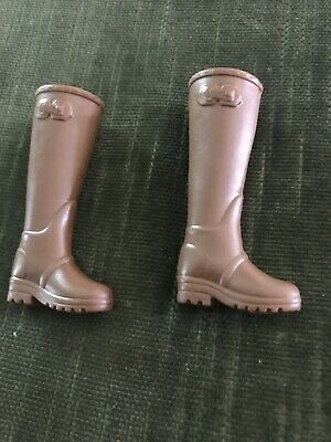 SHOES MATTEL BARBIE THE HUNGER GAMES DOLL BROWN FAUX BUCKLE BOOTS ACCESSORY
