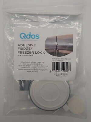 Qdos SecureHold Chrome Adhesive Fridge / Freezer Lock - Child-Proofing / Safety