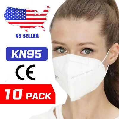 10 Pack KN95 Mask Protective Metal Nose Face Masks CE Certified 5 Layers Cover